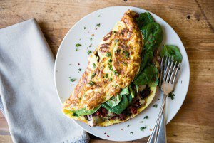 Mediterranean-Style Dairy-Free Omelet For Two