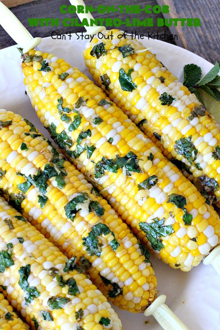 Corn-on-the-Cob with Cilantro-Lime Butter