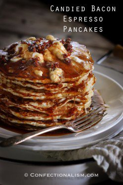 Candied Bacon Espresso Pancakes