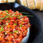 Baked Brie with Garlic and Red Pepper
