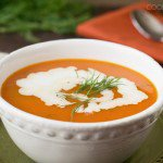 Quick Carrot Soup with Dill