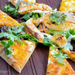 Flatbread Salad with Buffalo Chicken and Grilled Vidalia Onions