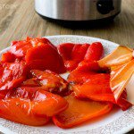 Making Roasted Peppers in a Slow Cooker