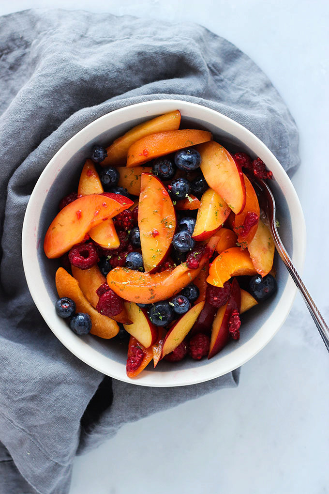 Apricot, Berry, and Nectarine Fruit Salad