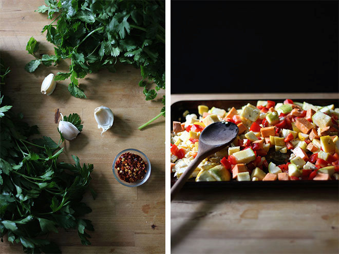 Simply Wholesome with Roasted Vegetables and Chimichurri