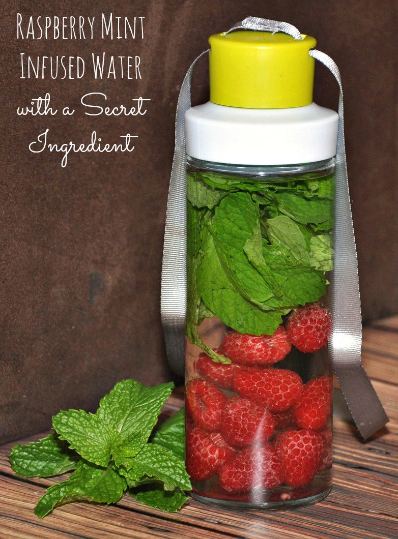 Raspberry Mint Infused Water with a Secret Ingredient