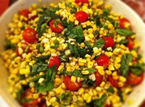 Charred Corn Salad with Tomatoes and Basil