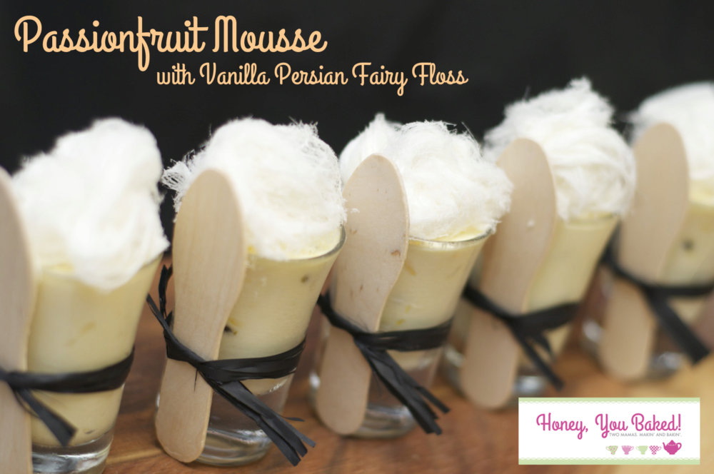 Passionfruit Mousse with Vanilla Persian Fairy Floss