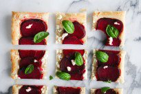 Beet and Goat Cheese Tart (5 ingredients!)