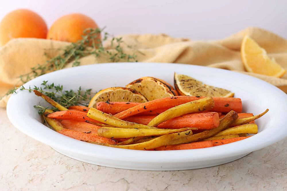 Oven Roasted Carrots with Orange and Cardamom
