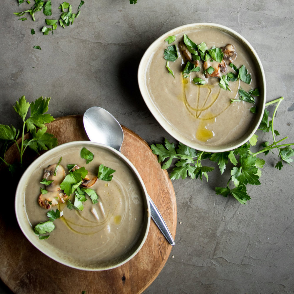 Mushroom and Lentil Soup with Miso
