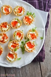 Cream Cheese and Pepper Jelly Phyllo Cups