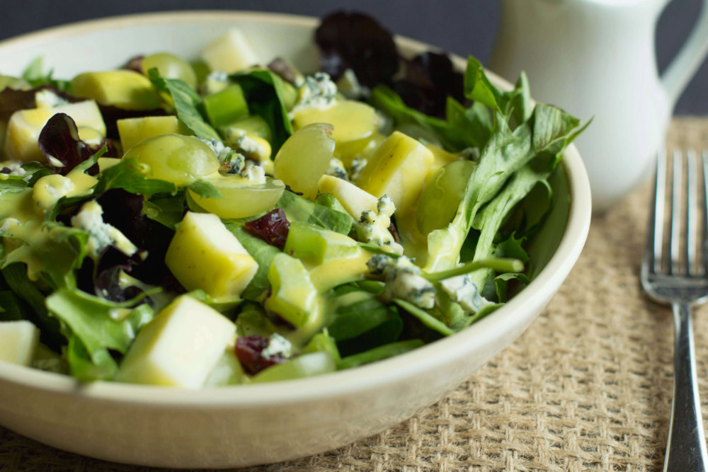Easy Green Salad with Homemade Honey Mustard Dressing