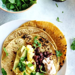 Breakfast Tacos with Chipotle Sour Cream