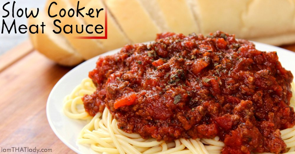 Slow Cooker Meat Sauce