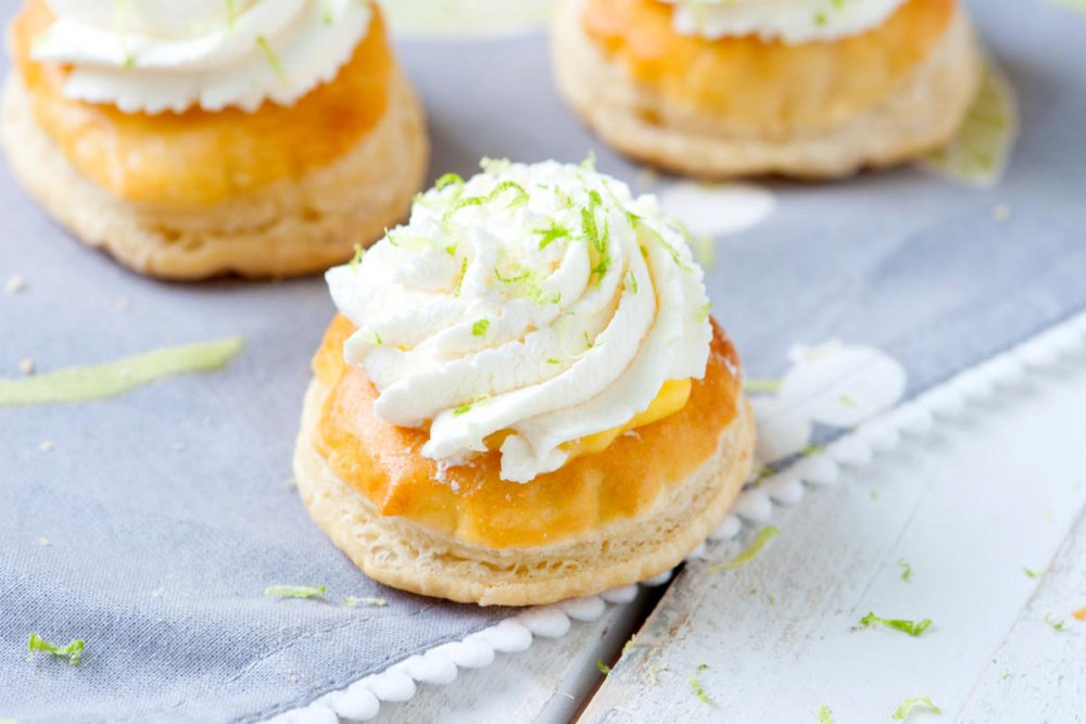 Puff Pastry Tarts with Lime Curd
