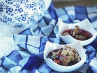 Peach Schnapps and Blueberry Crisp (and a Cookbook Giveaway!!)
