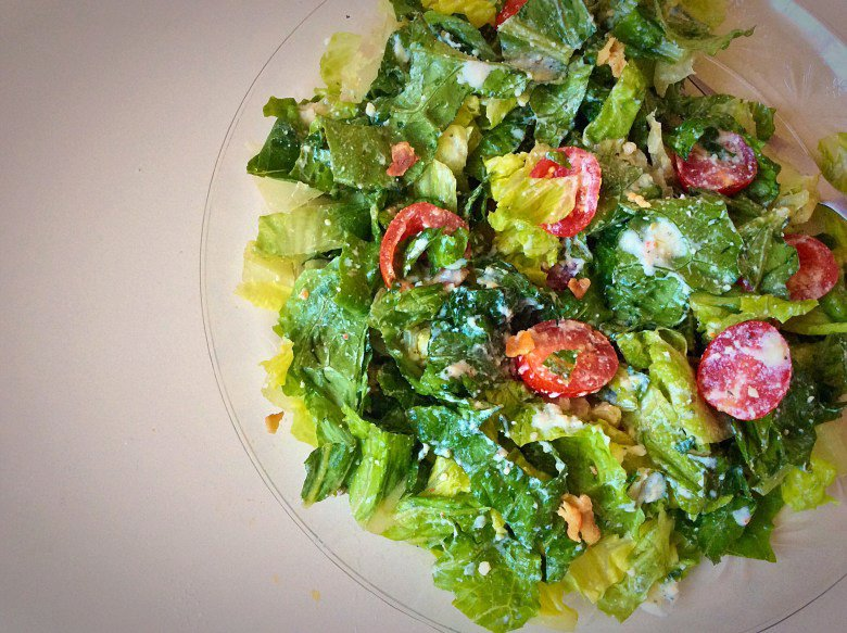 Romaine Salad with Tomatoes & Bacon