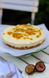 Raw Passion Fruit & Lemon Cake