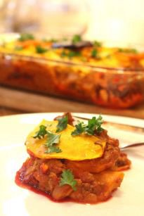 Vegetable & Beef Layer Dish