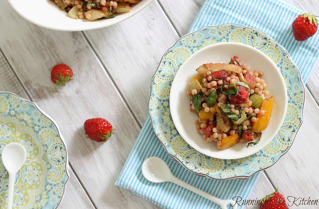 Roasted Strawberry Couscous
