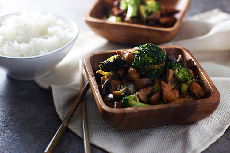 Hoisin Broccoli and Mushroom Stir-Fry