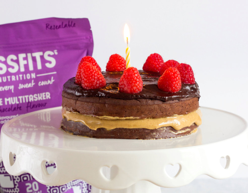 Chocolate & Peanut Butter Protein Cake