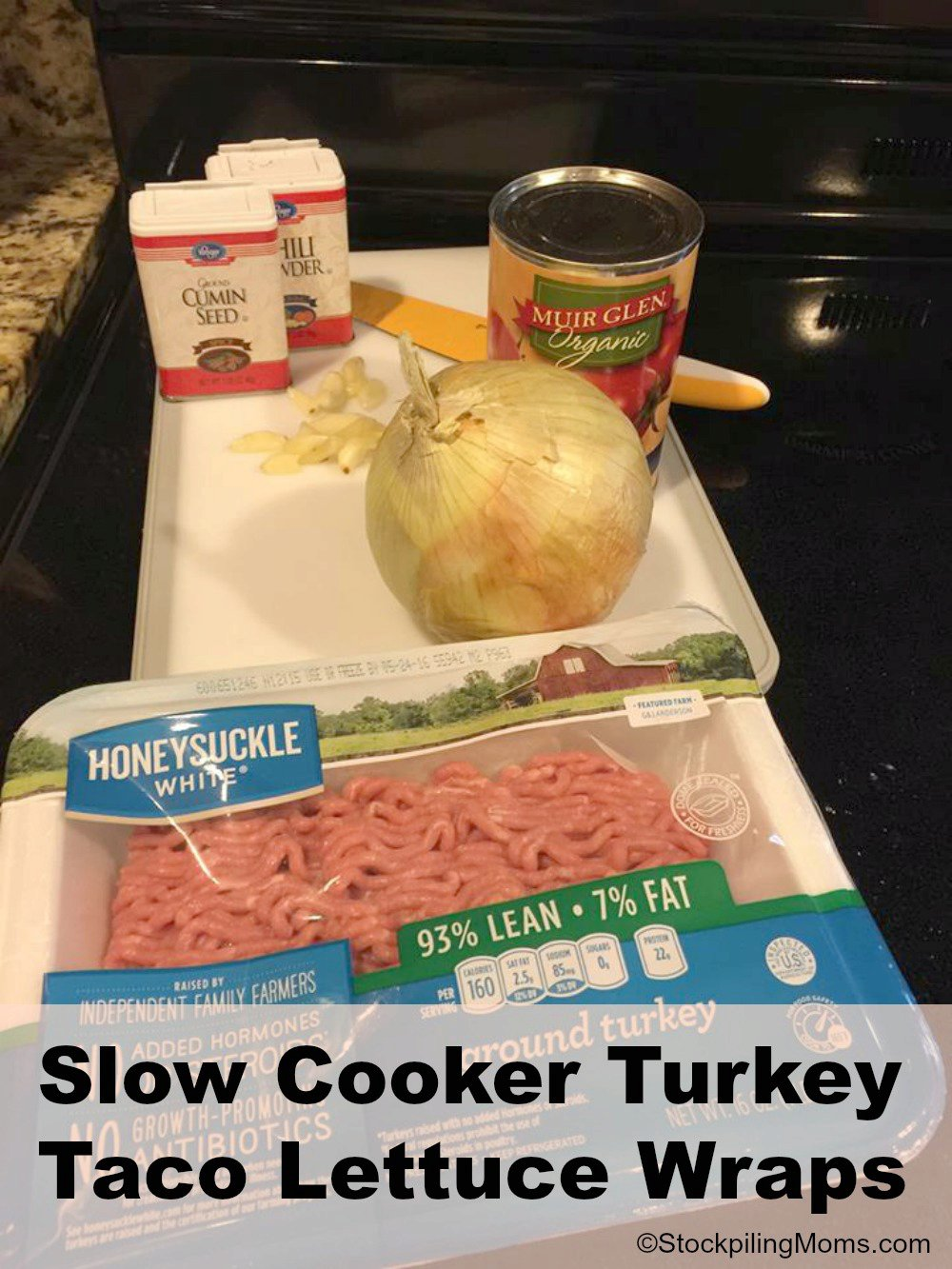 Slow Cooker Turkey Taco Lettuce Wraps