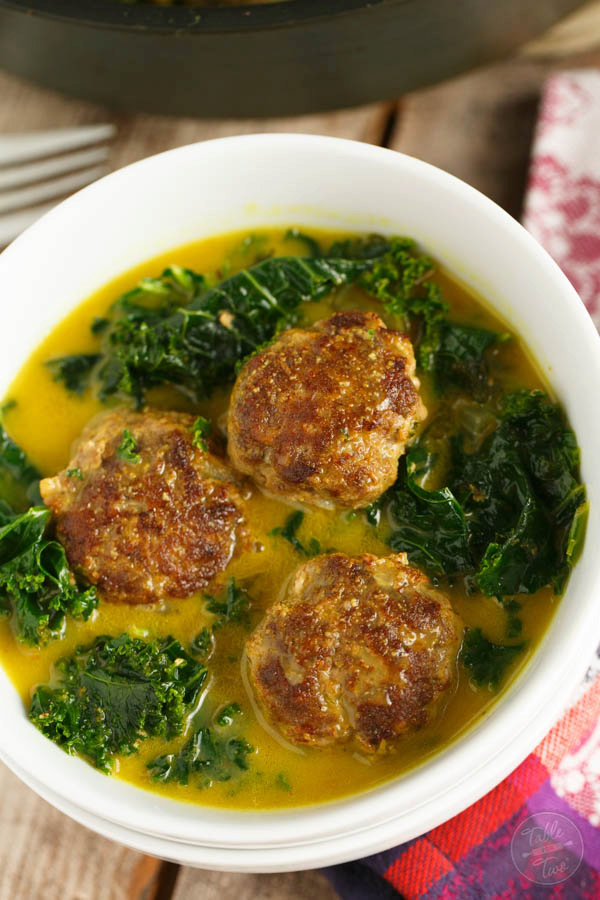 Curry Meatballs and Kale Stew