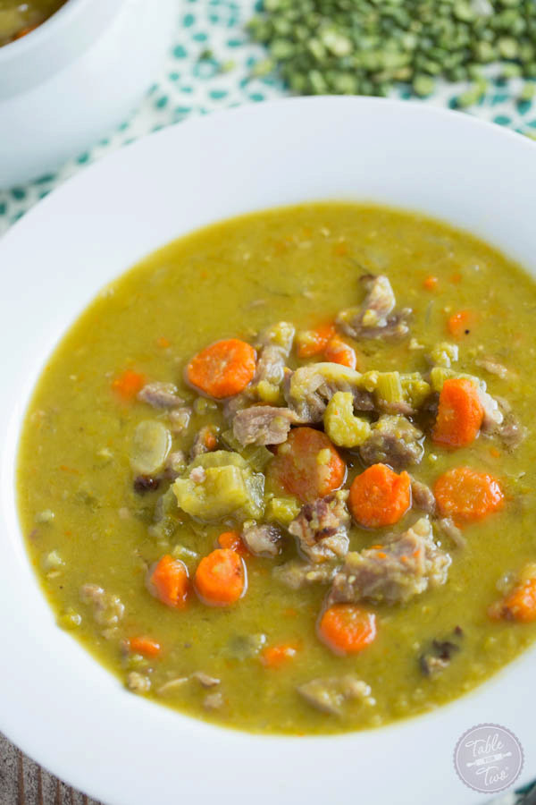 Slow Cooker Smokey Ham and Split Pea Soup