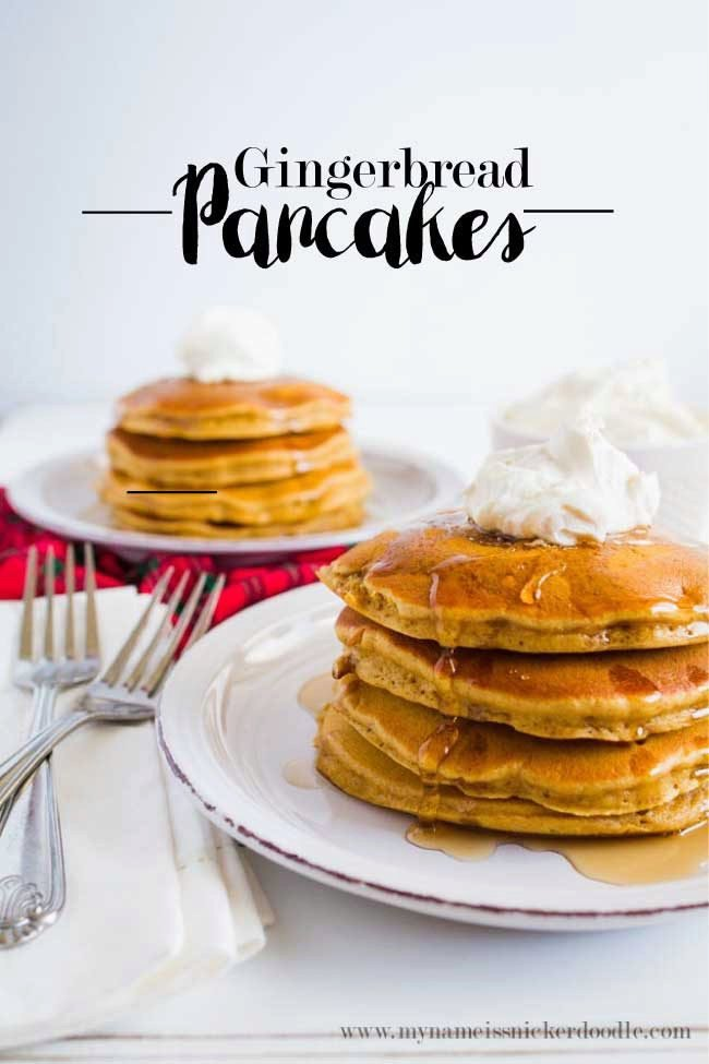 Perfect Holiday Recipe : Gingerbread Pancakes
