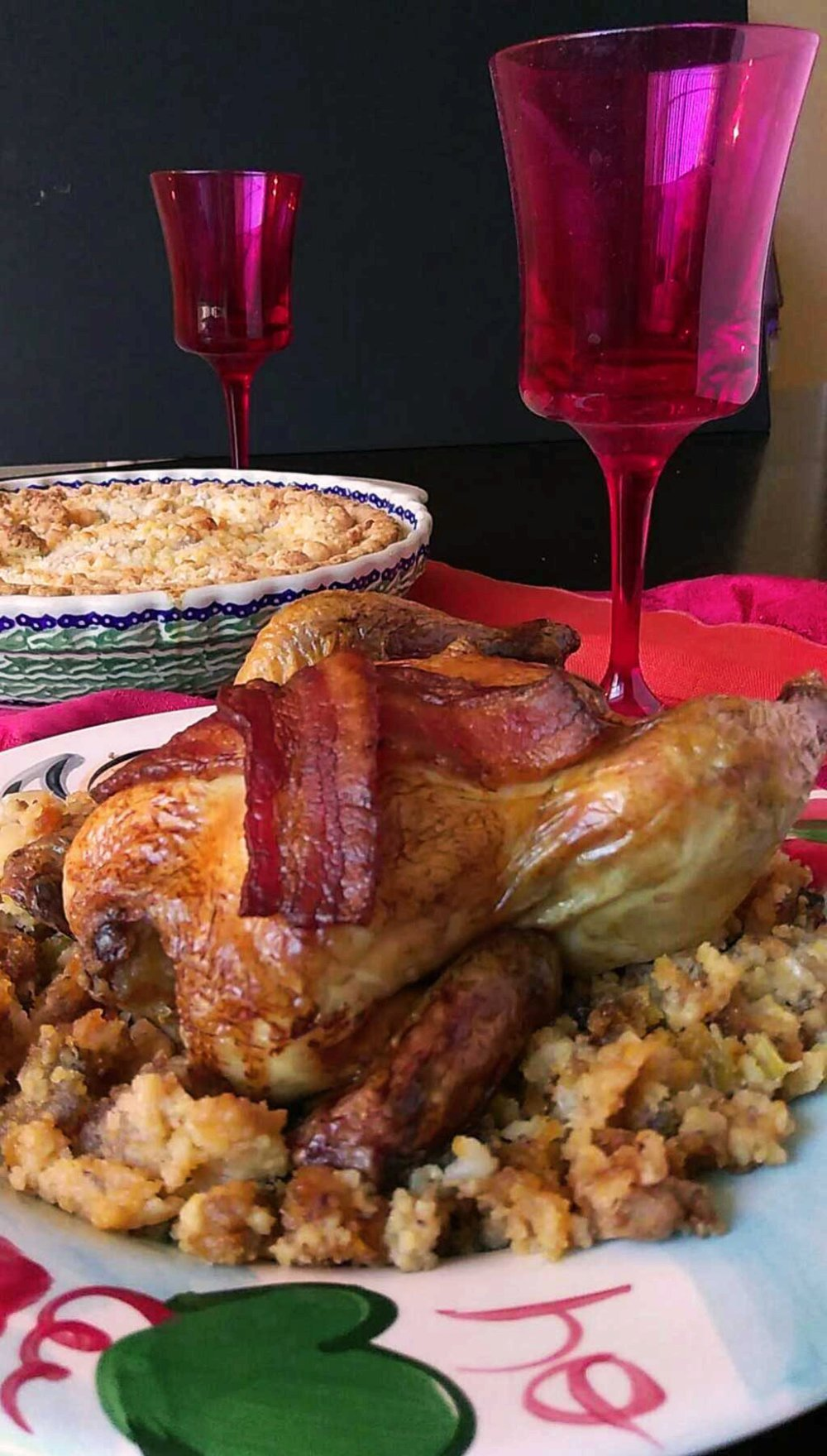 [ad] Cornish Hens with Sausage Stuffing - A Holiday dinner meal plan #LoveThisHolidayTwist