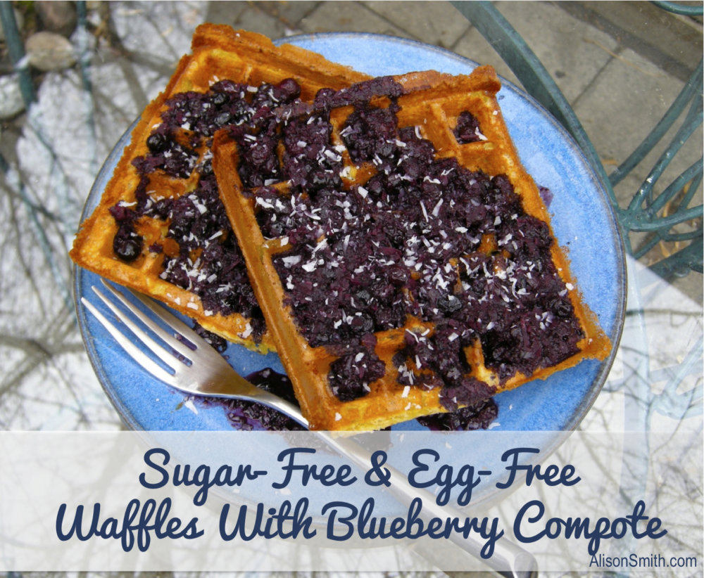 Food Love: Gluten-Free & Egg-Free Waffles With Blueberry Compote