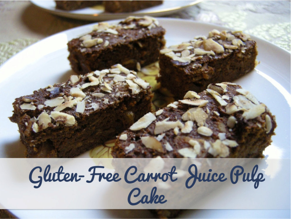 Delicious Gluten-Free Carrot Juice Pulp Cake {No Added Sugar}
