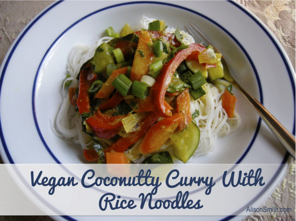 Vegan Coconutty Curry With Rice Noodles