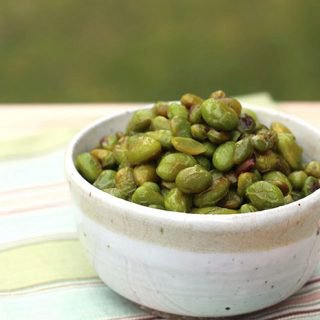 Roasted Edamame with Wasabi and Honey
