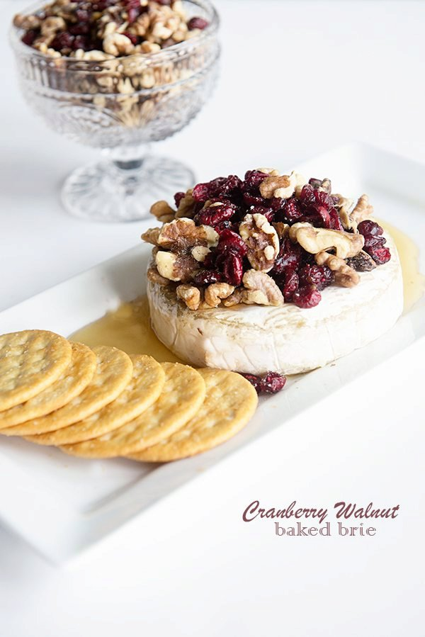 Cranberry Walnut Baked Brie Recipe