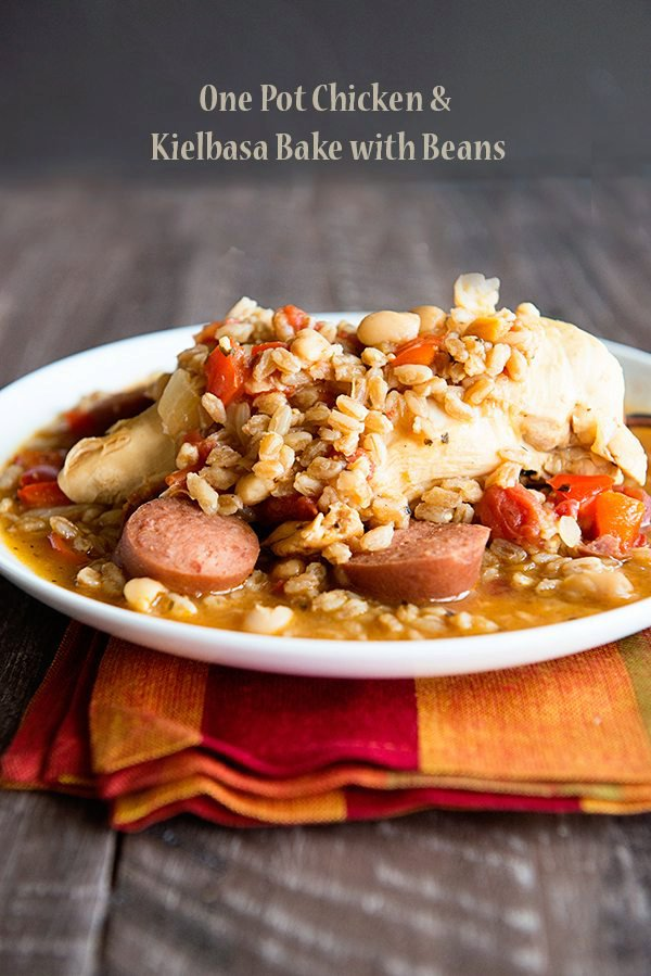 One Pot Chicken with Kielbasa and Beans