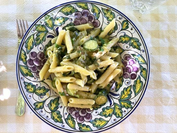 pasta with zucchini and herbs