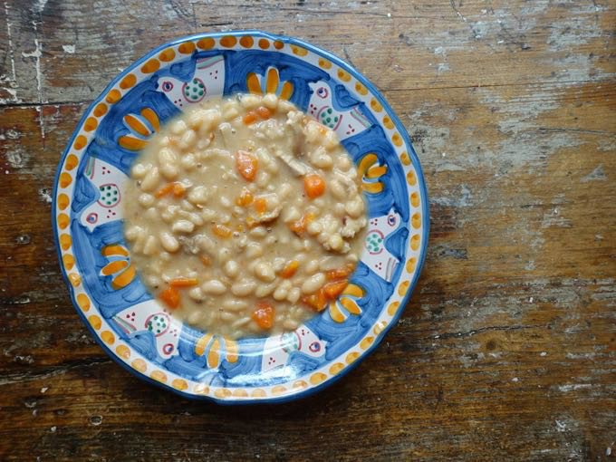 bean soup {with drippings}