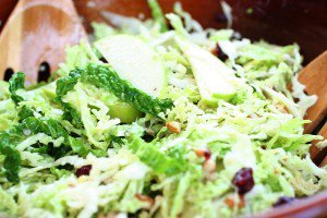 Cabbage Salad with Apples and Ginger Vinaigrette