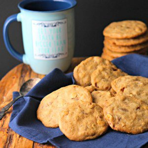 Coffee Toffee Crunch Cookies #SundaySupper