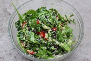 Dandelion & Baby Kale Salad- Bone Building and Detoxifying
