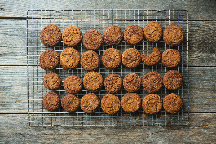 Chewy Ginger Molasses Spice Cookies: Gluten-Free, Dairy-Free