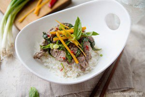 Thai Basil Beef with Coconut Rice