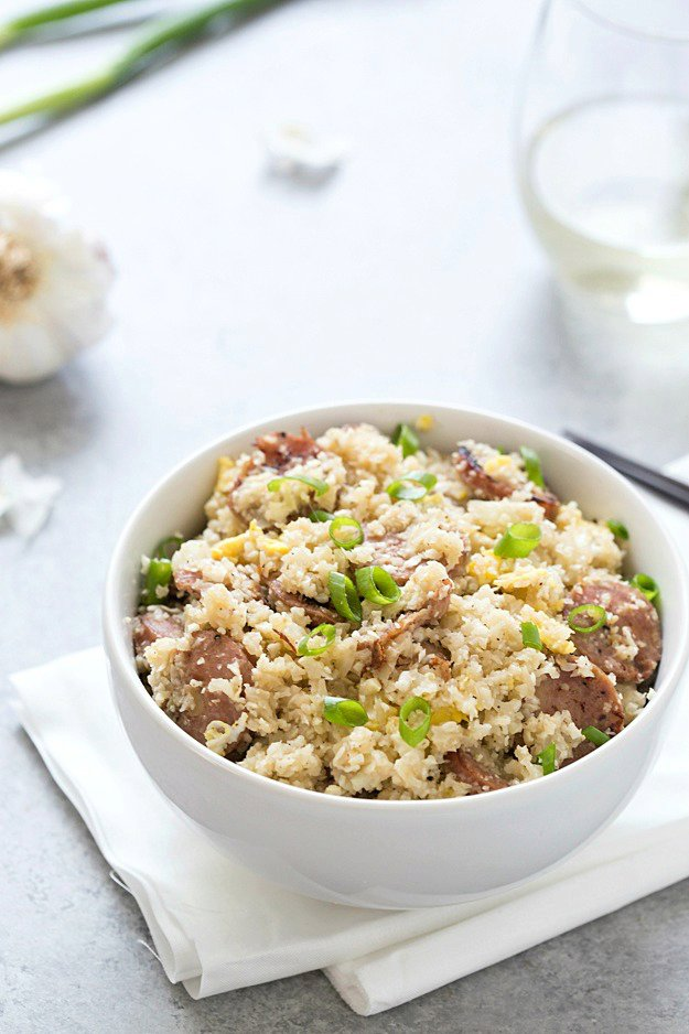 Sausage Cauliflower Fried Rice (Low Carb)