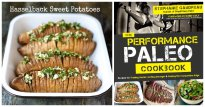 Hasselback Sweet Potatoes from The Performance Paleo Cookbook