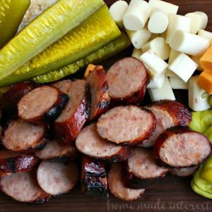 Memphis BBQ Sausage and Cheese Platter