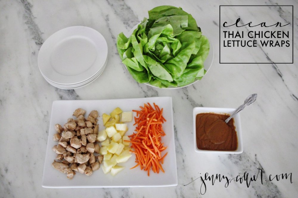 Clean eating thai chicken lettuce wraps recipe
