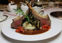 Rack of Lamb with Pinot Noir infused Honey Rosemary Sauce
